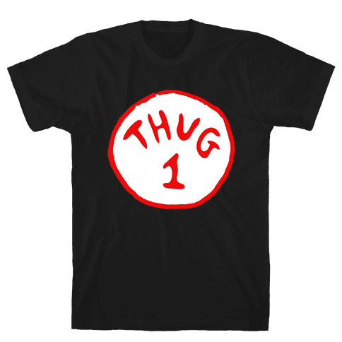 Thug 1 (black) Mens T-Shirt