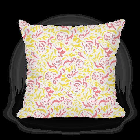 Filigree Flowers and Skulls Pattern