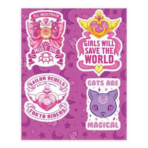 Rebel Sailor Scout Sticker/Decal Sheet