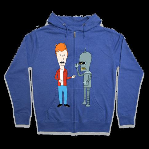 Fryhead and Bendvis Zip Hoodie