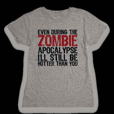 Hot Zombie Womens T-Shirt