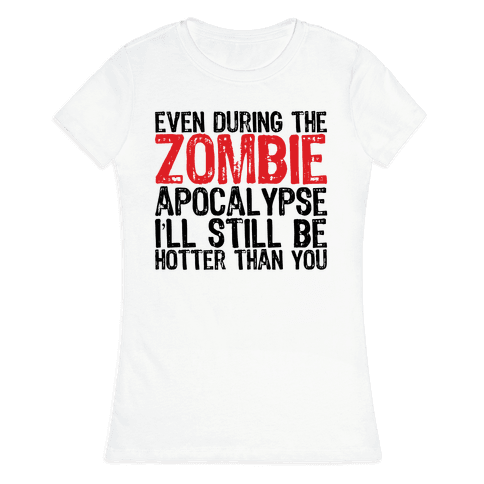 Hot Zombie Womens T-Shirt