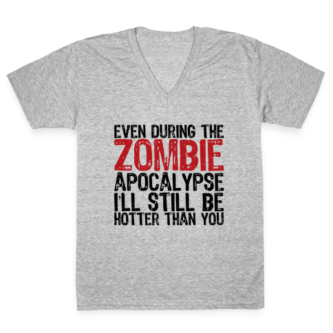 Hot Zombie V-Neck Tee Shirt