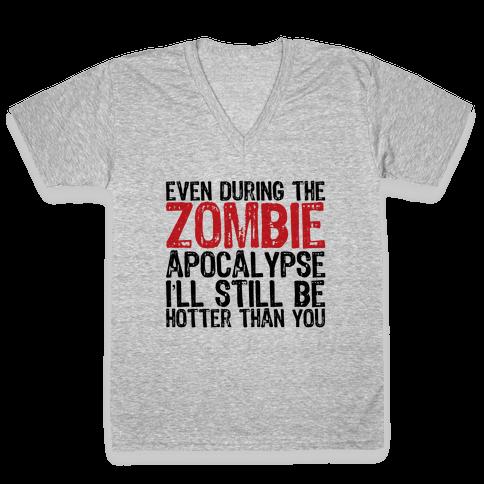 Hot Zombie V-Neck Tee Shirt