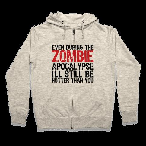Hot Zombie Zip Hoodie