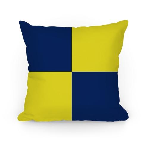 Ravenclaw Color Block Pattern Pillow