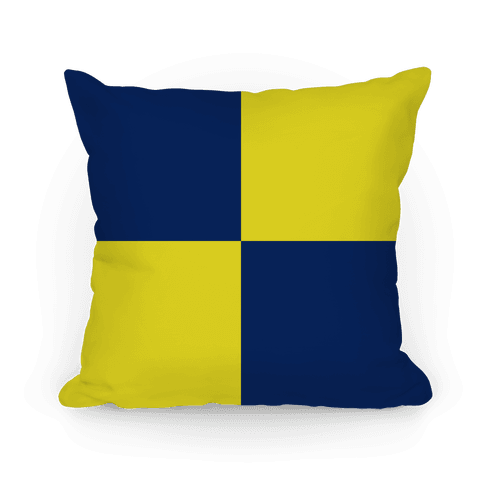 Ravenclaw Color Block Pattern Pillow