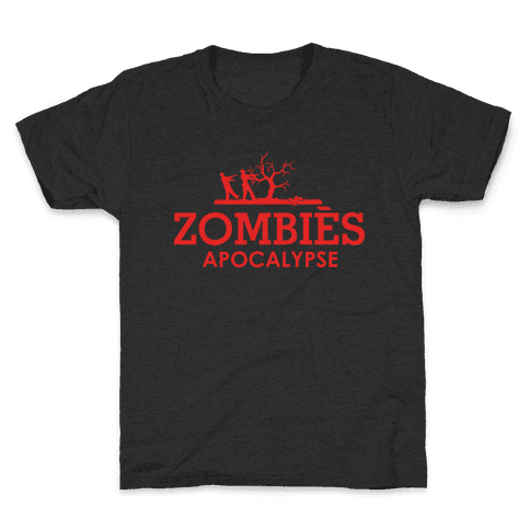 Zombies High Fashion Parody Kids T-Shirt