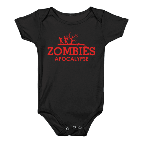 Zombies High Fashion Parody Baby Onesy