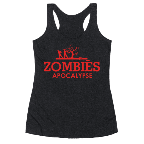 Zombies High Fashion Parody Racerback Tank Top