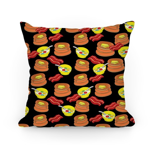 Balanced Breakfast Pattern Pillow