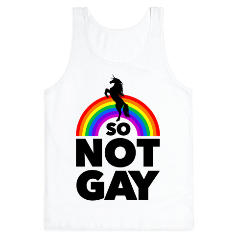 So Not Gay (White) Tank Top