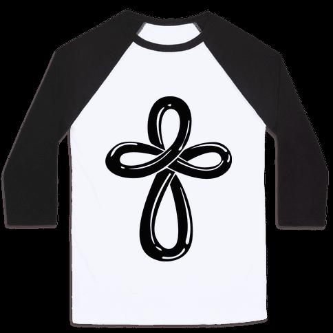 Infinity Cross (Back) Baseball Tee