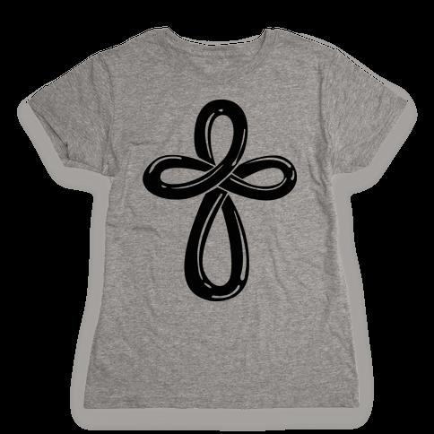 Infinity Cross (Back) Womens T-Shirt