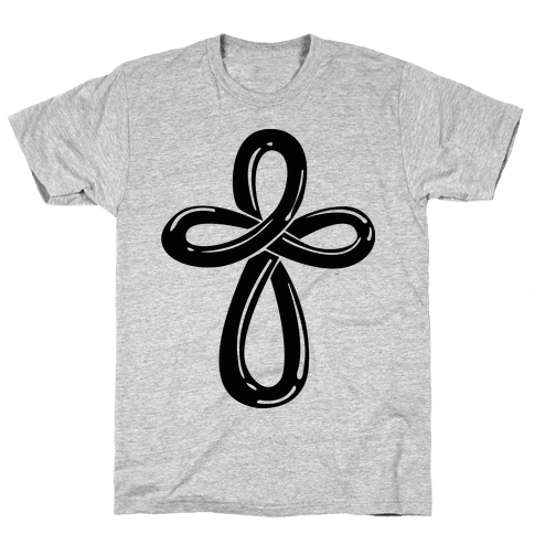 Infinity Cross (Back) Mens T-Shirt