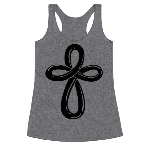 Infinity Cross (Back) Racerback Tank Top
