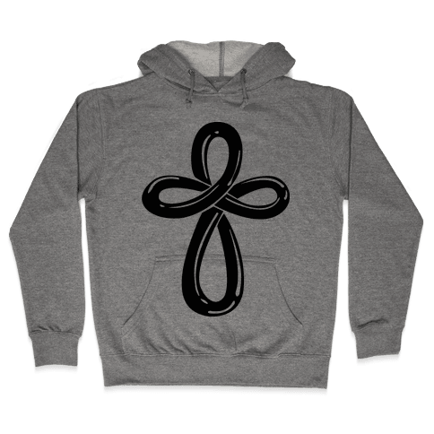 Infinity Cross (Back) Hooded Sweatshirt