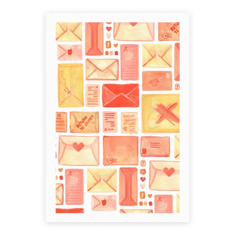 Love Letter Pattern Poster