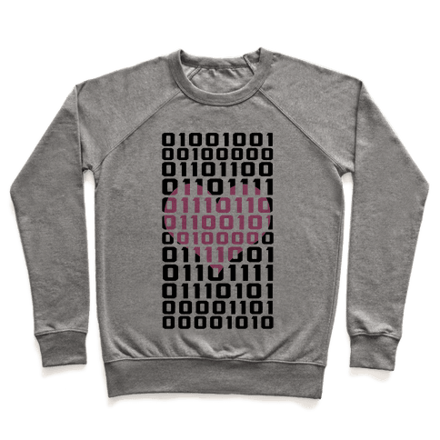 I Love You (Binary) Pullover