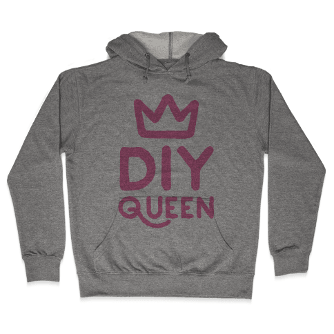 DIY Queen Hooded Sweatshirt