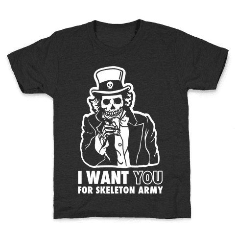 I Want You to Join Skeleton Army Kids T-Shirt