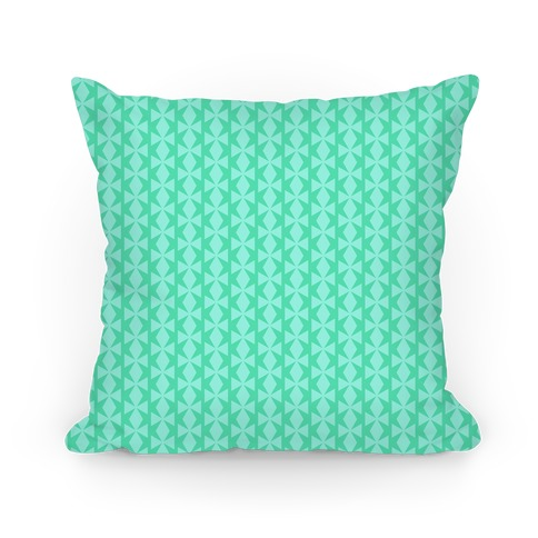 Turquoise Geometric Pattern Pillow