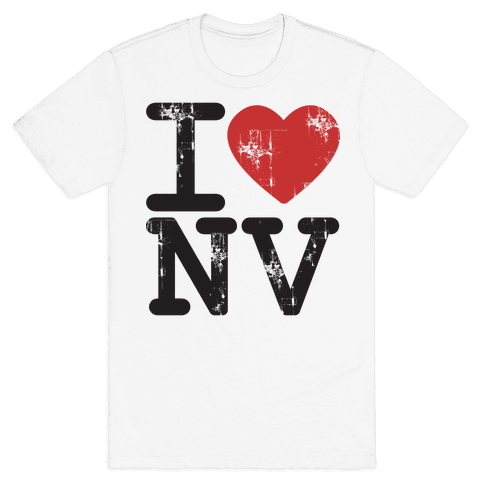 I Love Nevada Mens T-Shirt