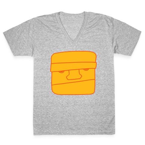 THE CLOBBERING HERO (MINIMAL) V-Neck Tee Shirt