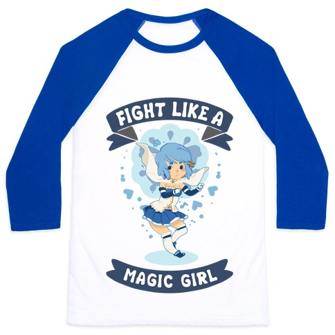 Fight Like A Magic Girl Parody Sayaka Baseball Tee