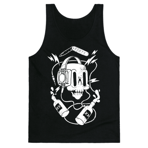 Party Skull Tank Top