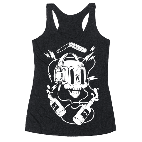 Party Skull Racerback Tank Top
