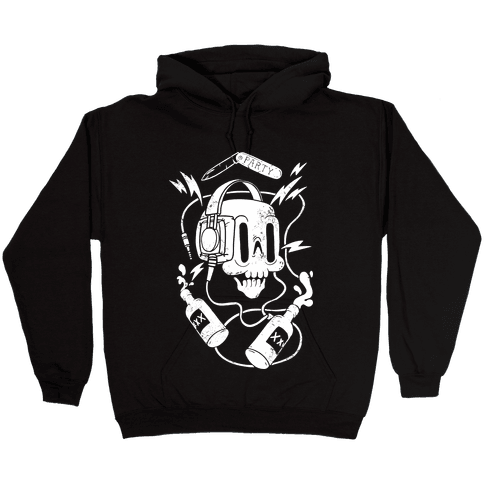 Party Skull Hooded Sweatshirt