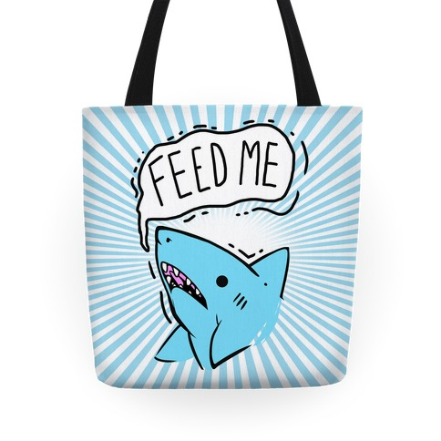 Feed Me Shark Tote
