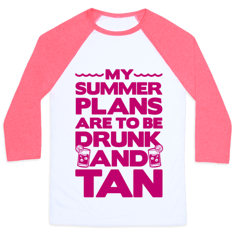 My Summer Plans Baseball Tee