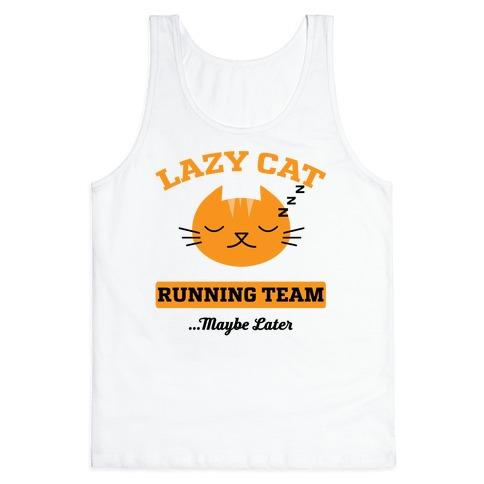 Lazy Cat Running Team Tank Top