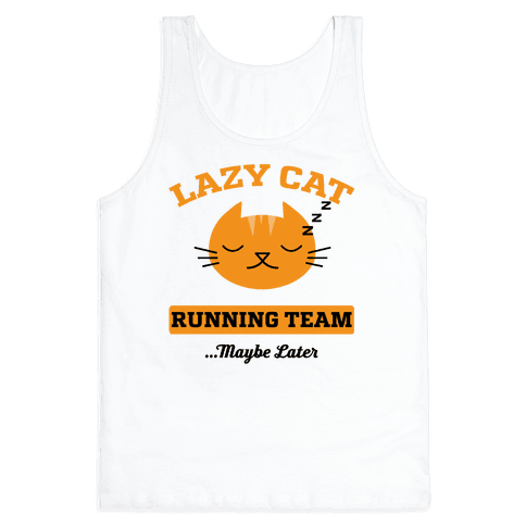 Lazy Cat Running Team Tank Top