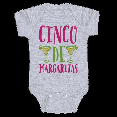 Cinco De Margaritas Baby Onesy
