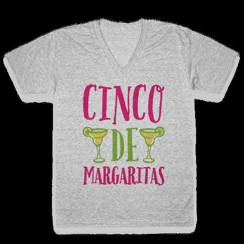 Cinco De Margaritas V-Neck Tee Shirt