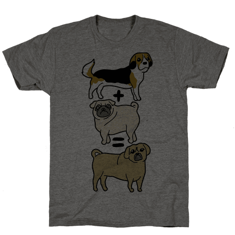Puggle Equation Mens T-Shirt