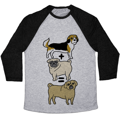 Puggle Equation Baseball Tee
