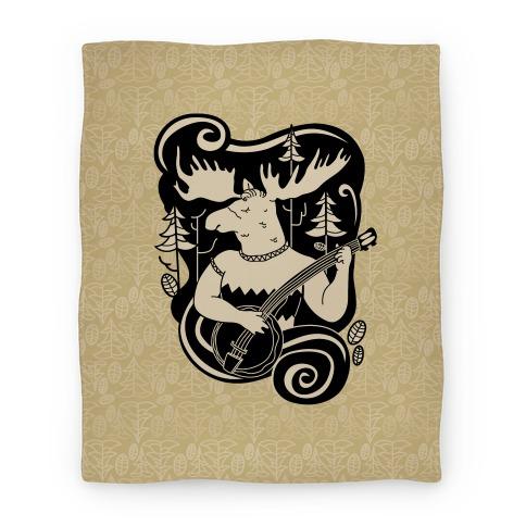 Indie Rock Moose Blanket