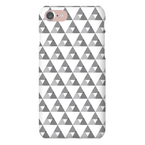 Gray Triangles Pattern Phone Case