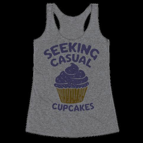 Seeking Casual Cupcakes Racerback Tank Top