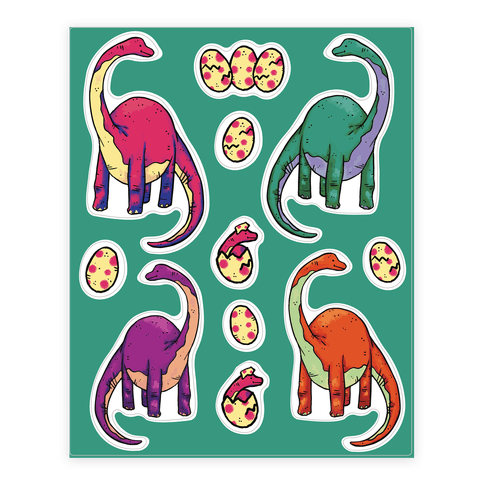 Dinosaur  Sticker/Decal Sheet