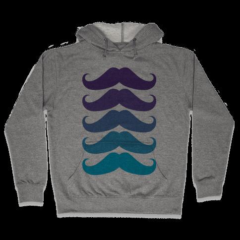Cool Mustaches Hooded Sweatshirt