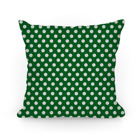 Slytherin House Polka Dot Pattern Pillow
