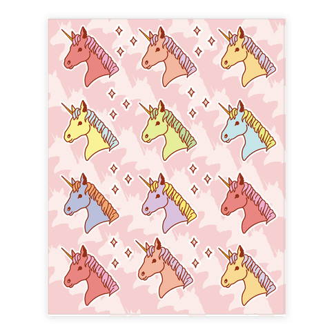 Unicorn Sticker and Decal Sheet