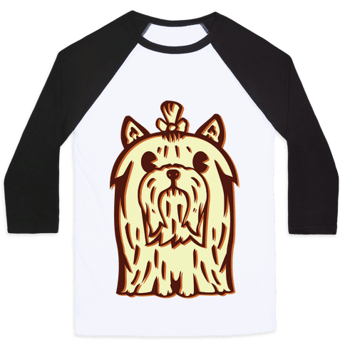 Yorkshire Terrier Vintage Illustration Baseball Tee