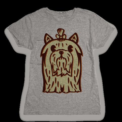 Yorkshire Terrier Vintage Illustration Womens T-Shirt