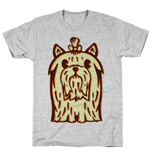 Yorkshire Terrier Vintage Illustration Mens T-Shirt